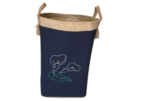 TT-160701 Palm leaf laundry basket with handles