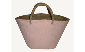 TT-160324 - Palm leaf shopping bag, color as it is.