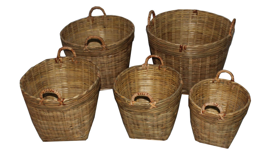 TT-160510/5- Bamboo basket, set 5.