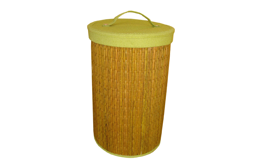 TT-160409 - Round laundry basket with lid, color as it is