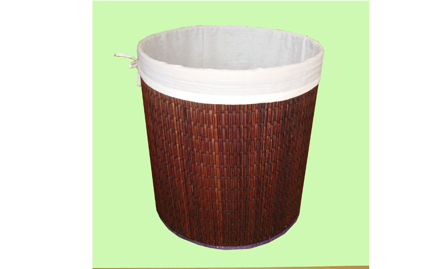TT-160407 - Round laundry basket with lining inside, color as it is