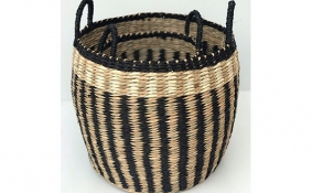 TT-DD 1904113/2 Seagrass basket, set of 2.