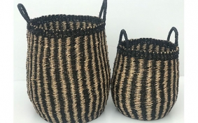 TT-DM 1904208/2 Seagrass basket, set of 2.