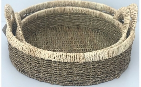TT-DM 1904217/2 Seagrass basket, set of 2.