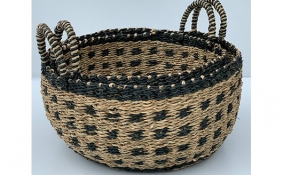 TT-DM 1904004/2 Seagrass basket, set of 2
