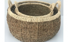 TT-DM 1904222/2 Seagrass basket, set of 2.
