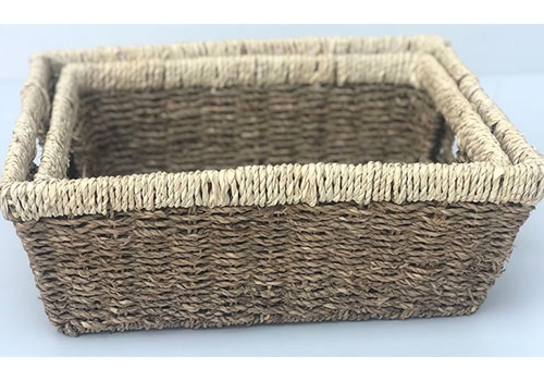 TT-DM 1904276/2 Seagrass basket, set of 2.