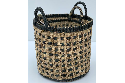 TT-DM 1904007 Seagrass basket, set of 2.