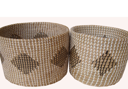 TT-160604/2- Seagrass basket, set 2.