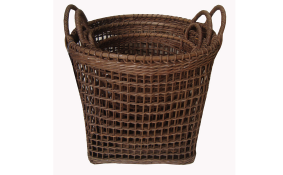 TT- 160710/3 - Round rattan basket with handles, set 3.