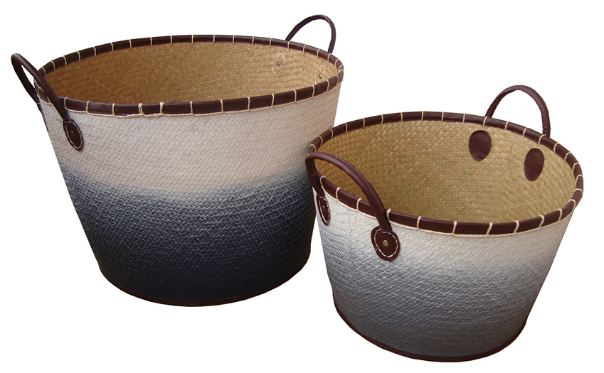 TT-160309/2- Palm leaf basket, set of 2