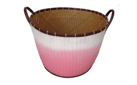 TT-160303- Palm leaf basket, color as it is