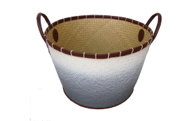 TT-160302- Palm leaf basket, color as it is