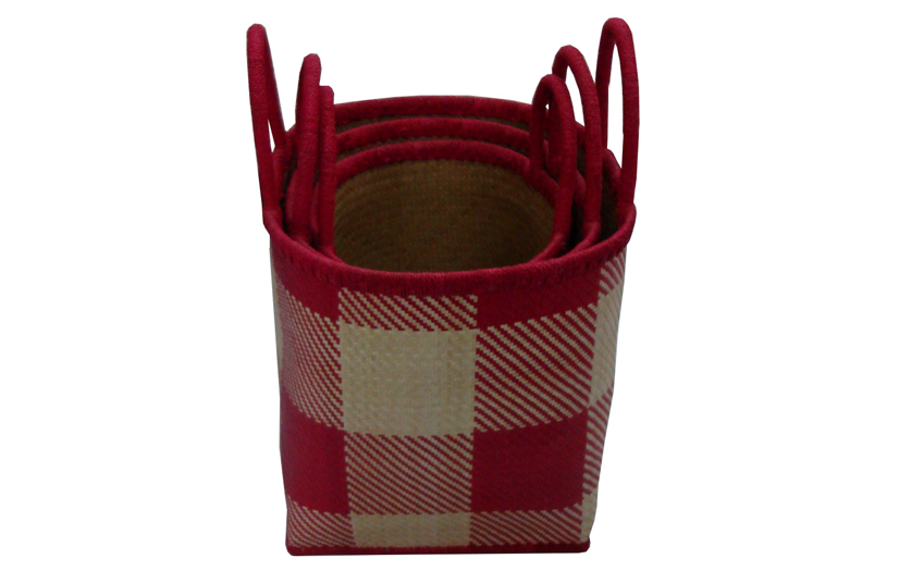 TT-160304/3- Palm leaf basket, set 3, color as it is