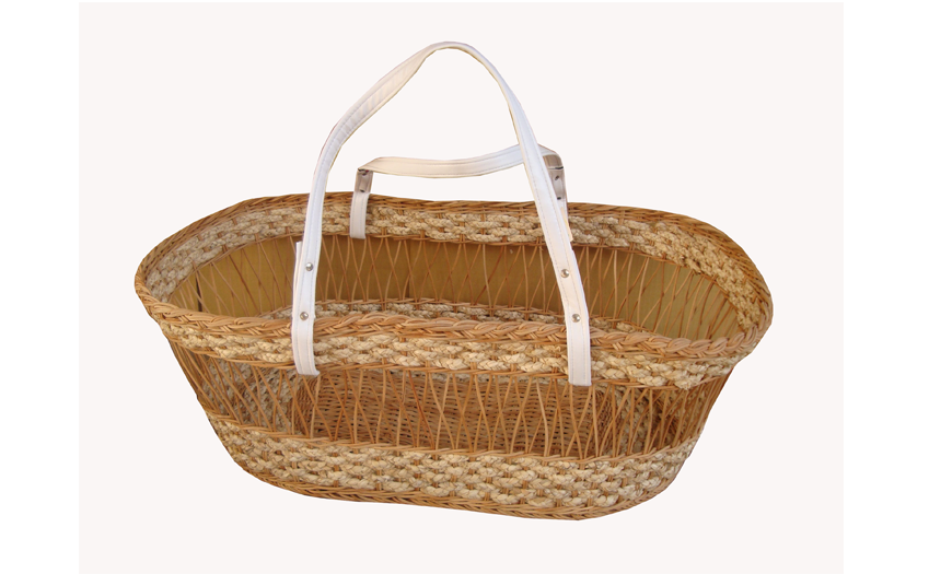 TT- 160714 - Carrying rattan baby basket with handles