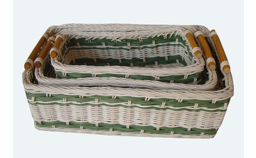 TT- 160712/3 - Rec. rattan basket, set 3.