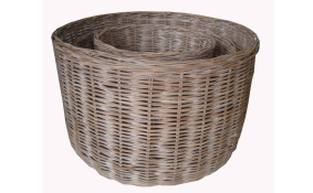 TT- 160703/2 - Round rattan basket with handles, Set 2.