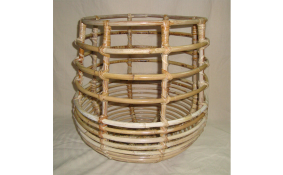 TT- 160708 - Round rattan basket, sewing as it is.