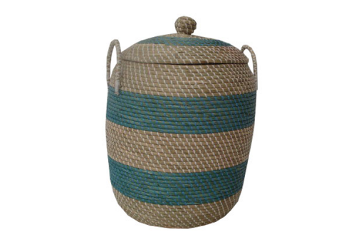 TT-140890 Round seagras basket with lid