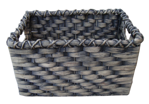 TT-14005 Water hyacinth basket, black wash color