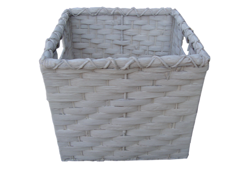 TT-142006 Water hyacinth basket, white wash color