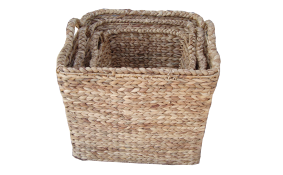 TT-142008/3 Water hyacinth basket, natural color, set of 3