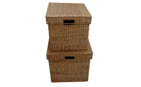 TT-142009/2 Water hyacinth basket, natural color, set of 2