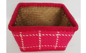TT- 160357 Palm leaf basket, color as it is. W24 x H14