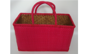TT- 160359 Palm leaf basket, color as it is. 44 x 21 x H25/41