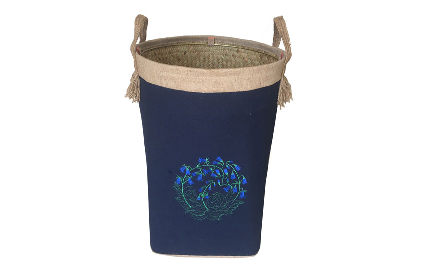 TT-160702 Palm leaf laundry basket with handles