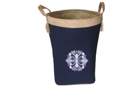 TT-160703 Palm leaf laundry basket with handles