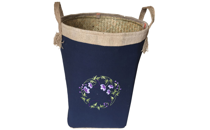 TT-160704 Palm leaf laundry basket with handles