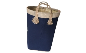 TT-160705 Palm leaf laundry basket with handles
