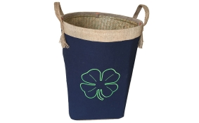 TT-160706 Palm leaf laundry basket with handles