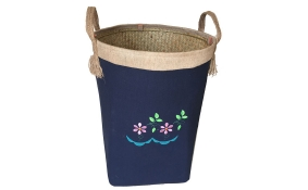 TT-160707 Palm leaf laundry basket with handles