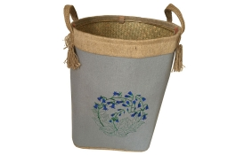 TT-160708 Palm leaf laundry basket with handles.