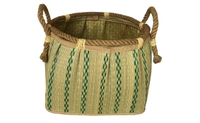 TT-160711 Seagrass basket, pattern color as it is.