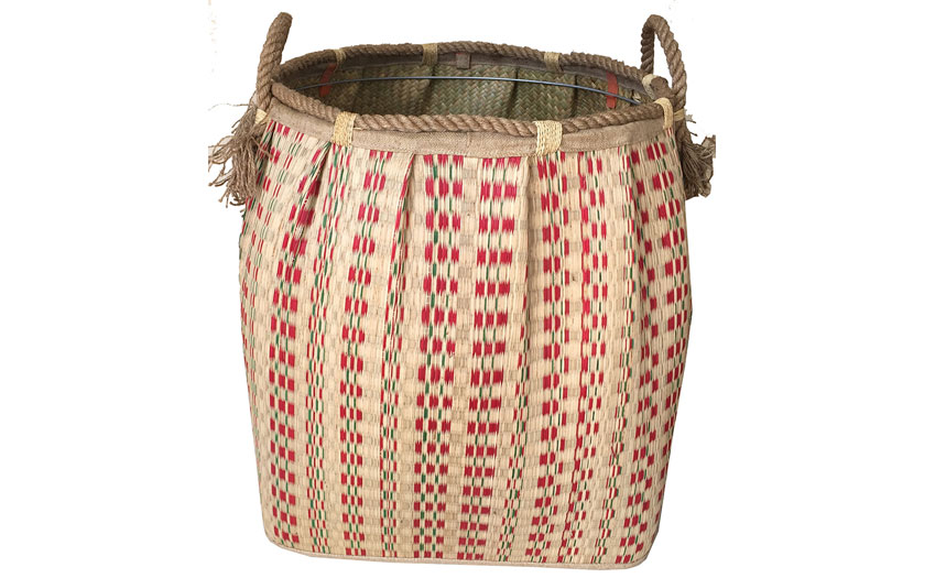TT-160716 Seagrass laundry basket, pattern color as it is.