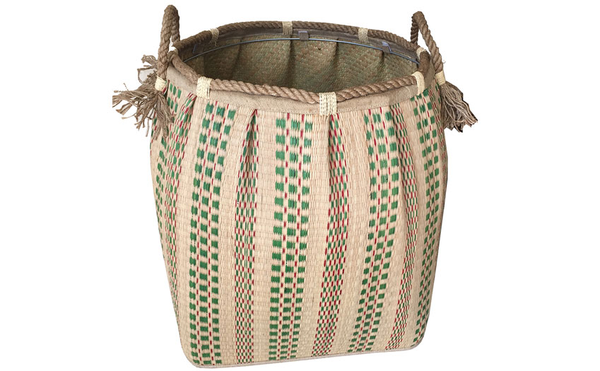 TT-160717 Seagrass laundry basket, pattern color as it is.