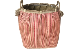 TT-160718 Seagrass laundry basket, pattern color as it is.