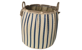 TT-1160719 Seagrass laundry basket, pattern color as it is.
