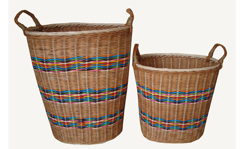 TT-160720/2 Round rattan basket with handles, set 2
