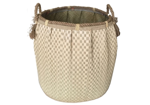 TT-160720 Seagrass laundry basket, pattern color as it is.