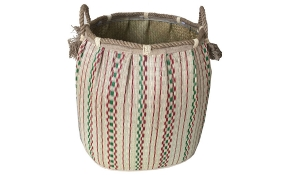 TT-160722 Seagrass laundry basket, pattern color as it is.