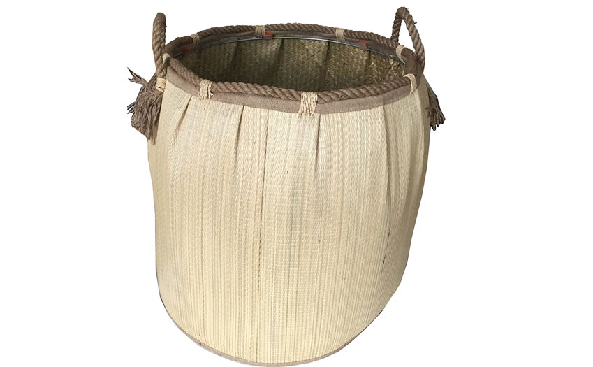 TT-160723 Seagrass laundry basket, pattern color as it is.