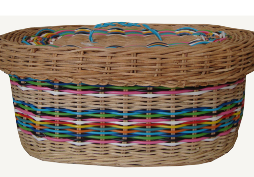 TT-160723 Rattan box with lid, color as it is