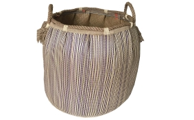 TT-160724 Seagrass laundry basket, pattern color as it is.