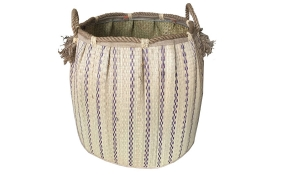 TT-160725 Seagrass laundry basket, pattern color as it is.