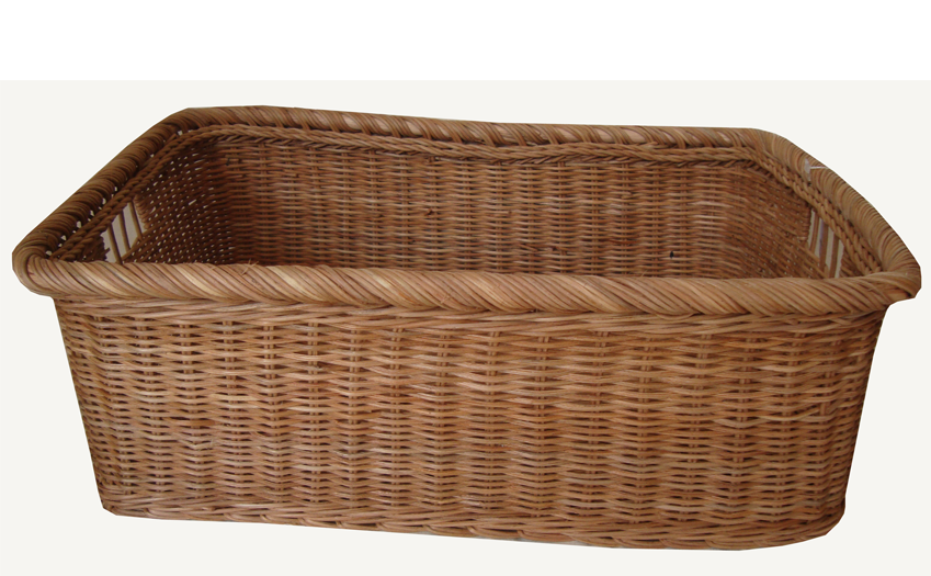 TT-160726 Rec. rattan basket, natural color