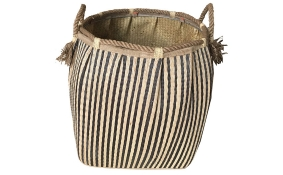 TT-160726 Seagrass laundry basket, pattern color as it is.